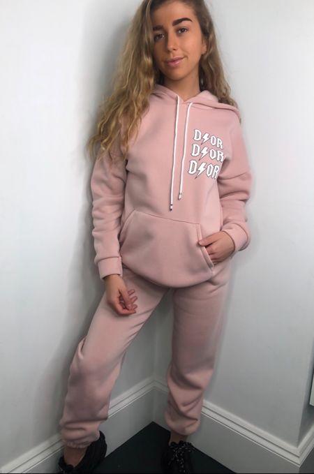 Pink Hoodie Tracksuit