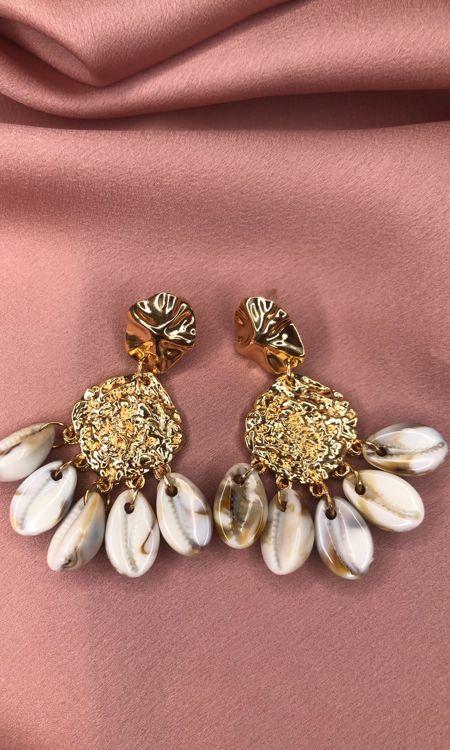 Gold Multi Shell Earrings