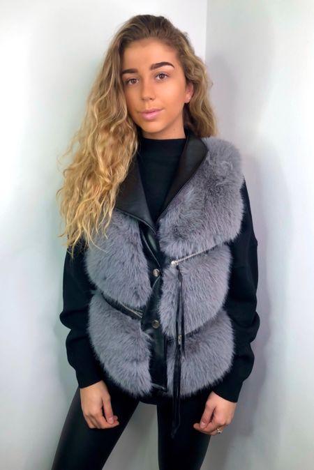 Grey Faux Fur Gillet