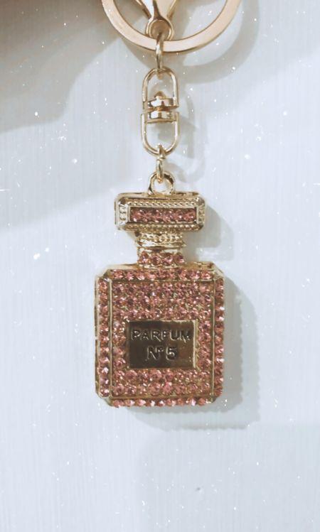 Pink No5 Keyring