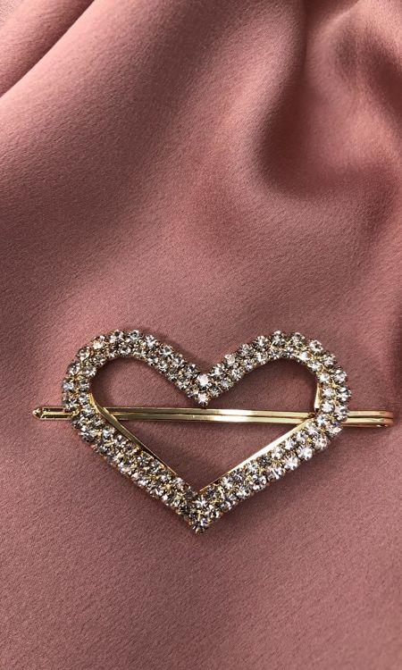 Diamanté Heart Clip