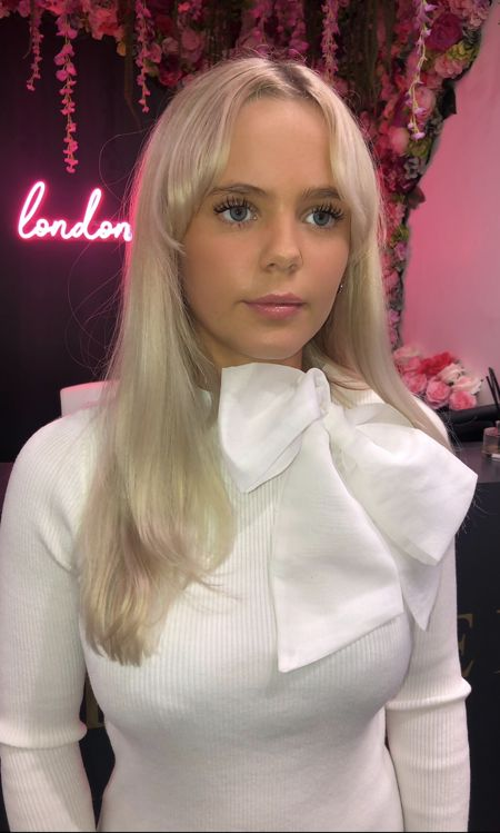 White Organza Pussybow Jumper