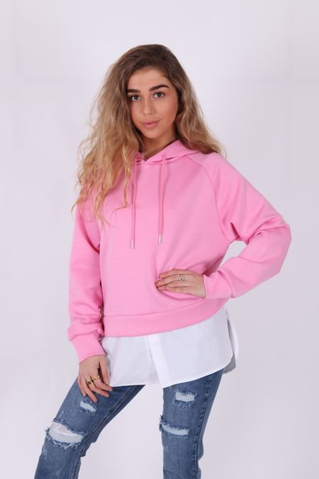 Hot Pink Hooded Jumper with Shirt