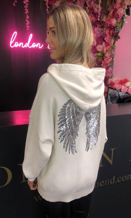 White Angel Wing Hoodie