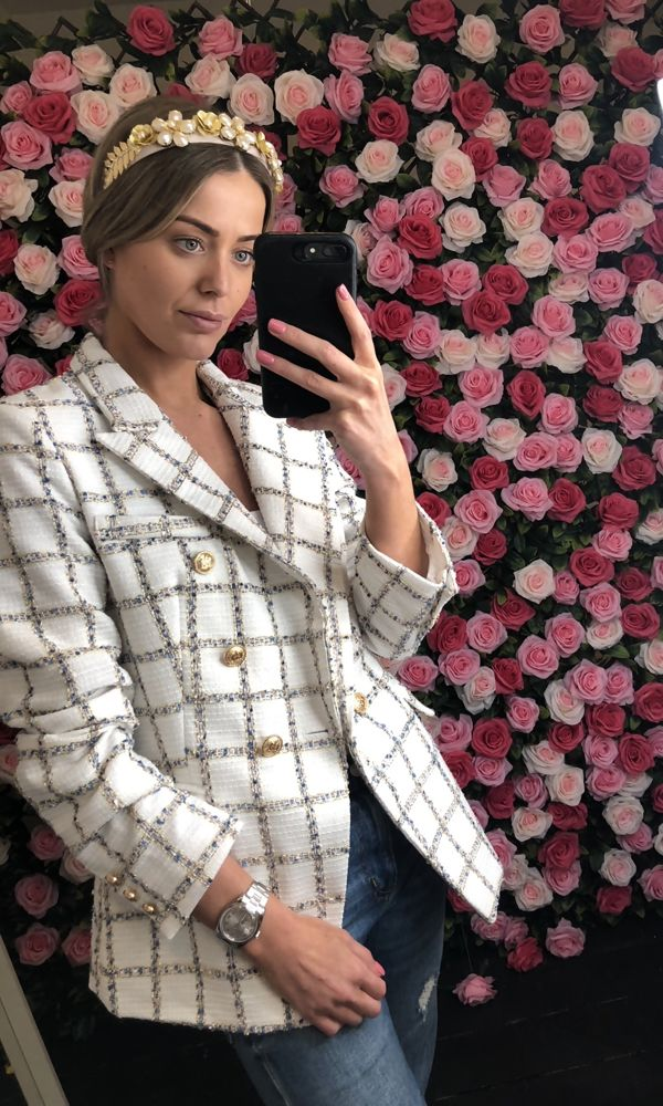 White Tweed Blazer